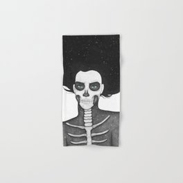 Black and White Galaxy Skull Girl Hand & Bath Towel