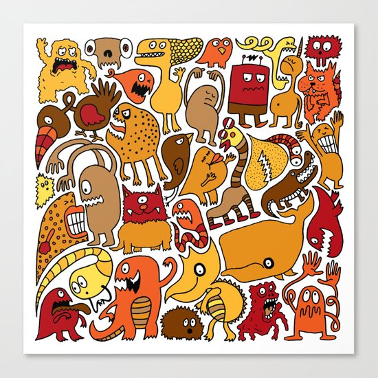 Creatures! Canvas Print
