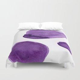 Ultra Violet Boulders Abstract Art Duvet Cover