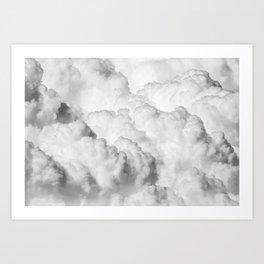 White Clouds Art Print