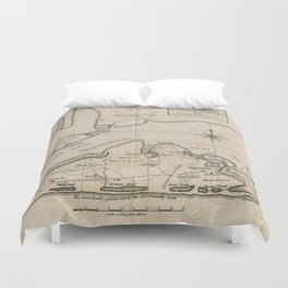 Vintage Map of Martha's Vineyard (1782) Duvet Cover