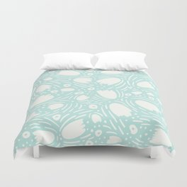 Floral Reverie in Seafoam Duvet Cover