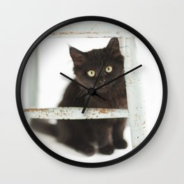 Meatball under the chair Wall Clock