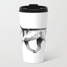Siberian Husky Movement Study Metal Travel Mug