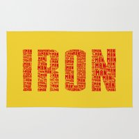 ironman Area & Throw Rugs featuring IRONman  by Kramcox