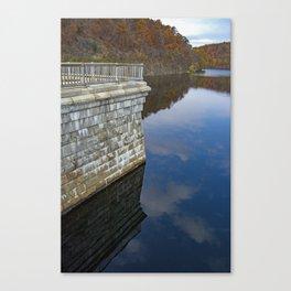 Croton Dam Portrait Canvas Print