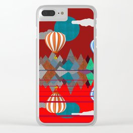 Hot Air Balloon Reflections Over Red Sea Clear iPhone Case