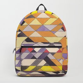 Triangle Pattern No.8 Black and Yellow Backpack