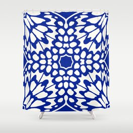 Butterfly Wings: Lapis Shower Curtain