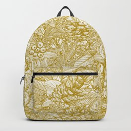 forest floor gold ivory Backpack