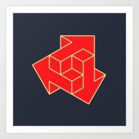 arrow Art Prints featuring Arrow by Dizzy Moments