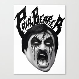 Black Metal Paul Bearer Canvas Print