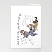 nori Stationery Cards featuring What does Nori say by BlueSparkle