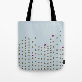 Spots and Hearts Tote Bag