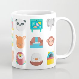 CUTE ZOO ANIMALS PATTERN Coffee Mug