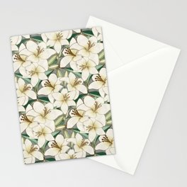 Gilding the Lilies - neutral forest shades Stationery Cards
