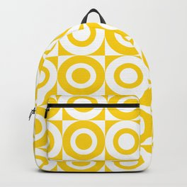 Mid Century Square and Circle Pattern 541 Yellow Backpack