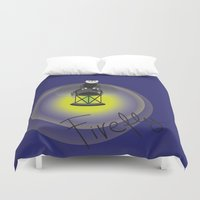 firefly Duvet Covers featuring Firefly by Tink.hr