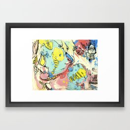 #74 A Piece of Soul in the Yellow Balloon Escaping Velocity Framed Art Print