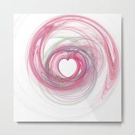 Valentine's Fractal VII - Light Metal Print