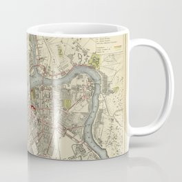 Map of St. Petersburg 1883 Coffee Mug