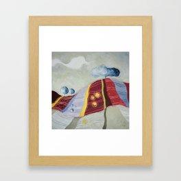 Anche tu sei collina Framed Art Print