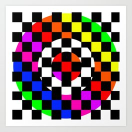 Triggle | Colorful Secret Geomoetry | Play Art Print
