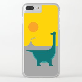 Dinosaur Clear iPhone Case