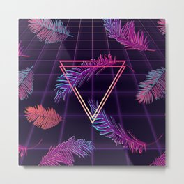 80's Retro Cyberpunk Synthwaves Dominating the Future Metal Print