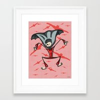 vampire Framed Art Prints featuring Vampire by Giuseppe Lentini
