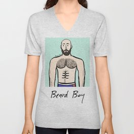 Beard Boy: Antoine Unisex V-Neck