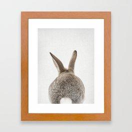 Bunny Tail Framed Art Print