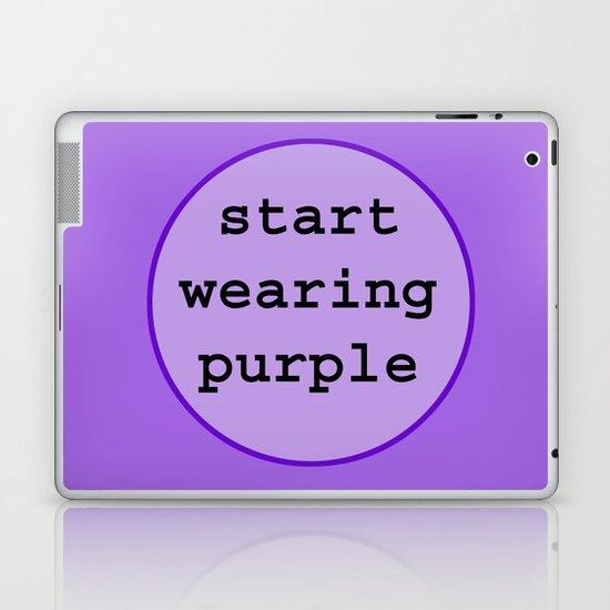 Start Wearing Purple Laptop & iPad Skin