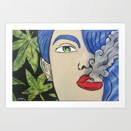 Sativa Queen Mary Jane Art Print