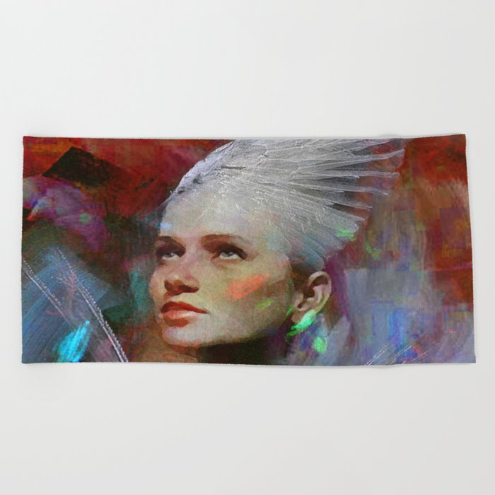 Guard of souls Beach Towel