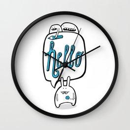 Hello Bunny Wall Clock