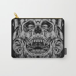 2 FACES SKULL Carry-All Pouch
