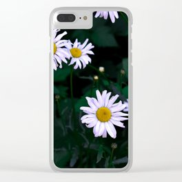 Shadowy Daisies Clear iPhone Case