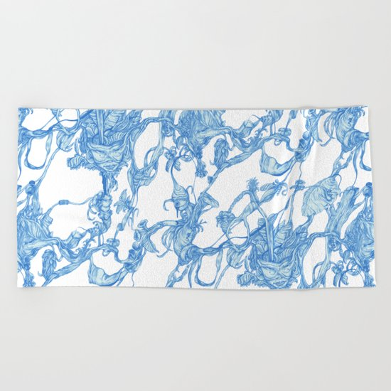 pattern-life Beach Towel