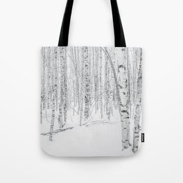 Swedish Birch Trees Tote Bag