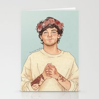coconutwishes Stationery Cards featuring Tommo Flower crown by Coconut Wishes