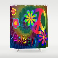 peace Shower Curtains featuring peace !!! by Shea33