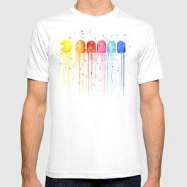 Retro Rainbow Geek Video Game Art T-shirt