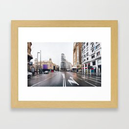 Madrid - Gran Via Framed Art Print