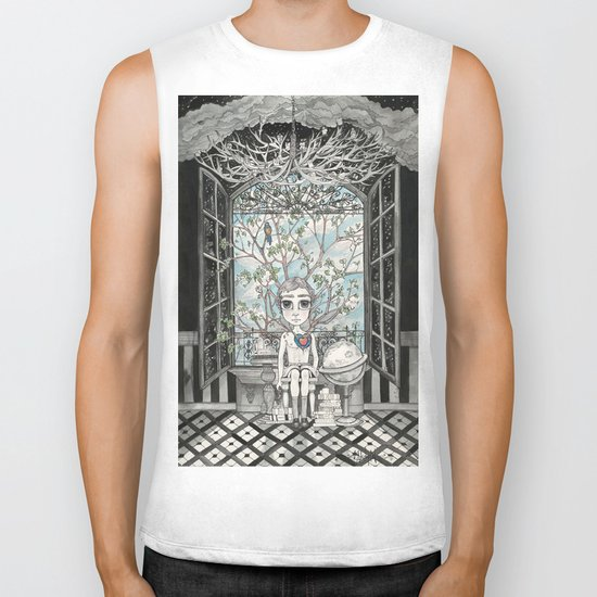 The Boy With An Apple Where His Heart Should Be Biker Tank