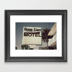 Ocean Liner Framed Art Print