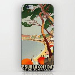 Vintage poster - Cote D'Azur, France iPhone Skin
