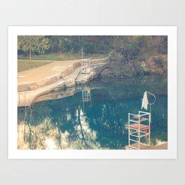 Barton Springs Austin Texas Art Print