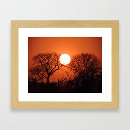 Kenian nights Framed Art Print