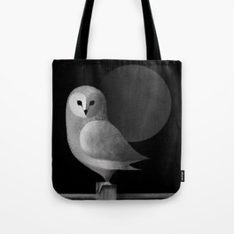 Barn Owl Full Moon Tote Bag